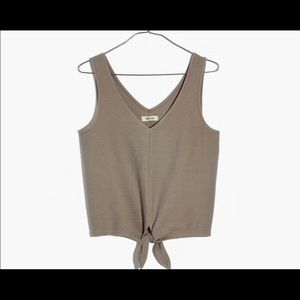 Madewell Texture & Thread Tie- Front Tank